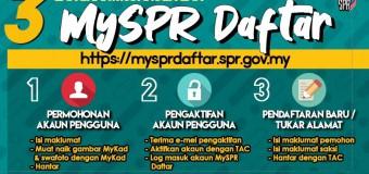 PENDAFTARAN PEMILIH ONLINE (Baru/Tukar Alamat) MySPR Daftar