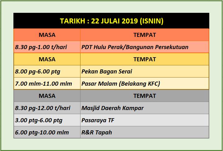 Pergerakan Team - 22.07.2019