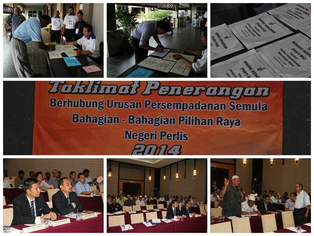Taklimat Penerangan Berkenaan Urusan Persempadanan Bahagian Pilihan Raya Negeri Perlis 2014