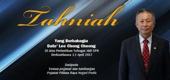 Tahniah Yang Berbahagia Dato' Leo Chong Cheong