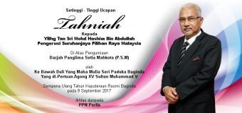 Tahniah Yang Berbahagia Tan Sri Mohd Hashim Bin Abdullah