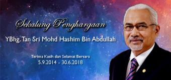 Selamat Bersara YBhg. Tan Sri Mohd Hashim Bin Abdullah