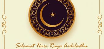 Selamat Hari Raya Aidiladha 1440H/2019