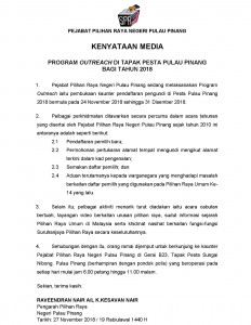 KENYATAAN MEDIA OR PESTA