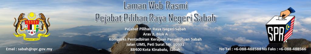 Laman Web Rasmi Pejabat Pilihan Raya Negeri Sabah